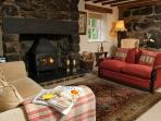 Sitting Room.  Inglenook with large Woodburning Fire for those cosy nights