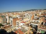 Unobstructed views from the terrace over Barcelona