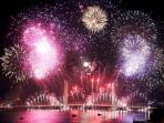 Fireworks in Bordeaux for lifting bridge inauguration