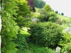 The garden enjoys good views over the surrounding countryside