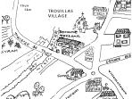 A map of our really friendly village with the best Patissier/Boulanger/Chocolatier