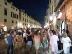 Dubrovnik at night is a lively place, with bars and restuarants to temp all.