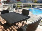 Balcony pool view