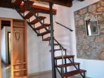 Stairs for the upper part of the apartment
