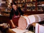 Nearby the largest mortadella in Italy - delicious!