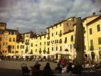 Lucca: ancient walled city with Roman ampitheatre and 72 churches