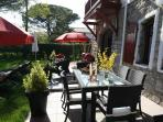 Garden dinning area