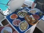 Lunch onboard.