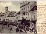 Casa Mandl on a postcard from 1900