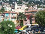 Market day in the Old Town of Villefranche sur Mer