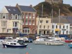 Ilfracombe Harbour, with its range of restaurants, wine bars and CAMRA award winning pubs