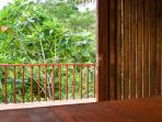 Handcrafted teak and bamboo sliding doors so you can have the villa as open or as closed as you wish