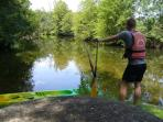 Kayaking on the River Dronne