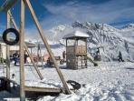 Playground on mountain