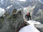 Climbing on mountain