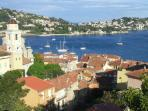 View over old Villefranche (including apartment)