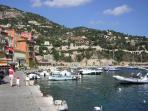 The harbour front at Villefranche