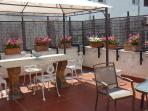 Nice terrace with veranda and dining set