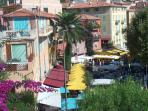 Old Town and market day in Villefranche sur mer