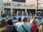Tribute acts at Zenia Boulevard in the evenings