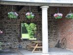 The listed loggia a great place for breakfast whatever the weather