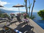 Spectacular view from the pool/bar terrace and all levels
