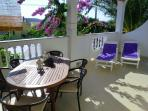The main terrace where you will enjoy your breakfast and the sea view