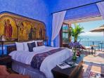 Master bedroom with private sun bathing terrace