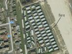 Our caravan is located on the beach, on a small, quiet site, literally a few steps onto the beach