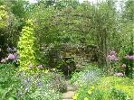 The arbour garden with its spring fed water trough