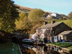 Tunnel End has a visitor Centre and craft loft.  There are trips into the tunnel under the Pennines