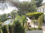 Rear of Villa Fleurie looking to pool