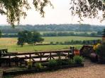 The view across the farm