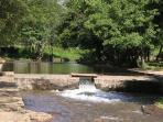 Natural swimming pool of Xevora river