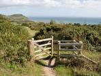 South West Coastal path just minutes away at Lyme Regis