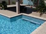 Swim up pool bar.... Warm up the blender!