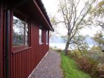 View of Loch Ness from side of Premier Lodge