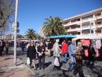 Frejus Sunday market