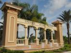 Resort entrance- Emerald Island is a manned gated community