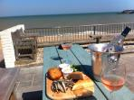 HOW ABOUT SOMETHING TO EAT AND DRINK IN A PUB ON THE BEACH - V. NEAR SHRIMP COTTAGE.
