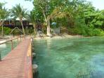 Paradise Lodge beachfront , ideal for swimming and snorkelling