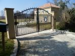 front gates at house