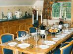 The Creamery's long oak dining table is perfect for special celebrations