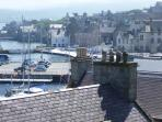 Lerwick town centre, rooftop view from apartment