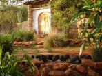 Wild Guinea fowl in the garden