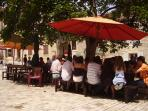 Lunch in Chauvigny