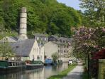 Hebden Bridge with the Rochdale Canal