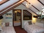 Lovely Shabby Chic adjoining twin bedroom with lots of luxorious finishing touches.