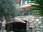 Facade of the villa