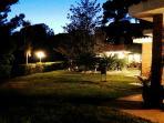 Sunset in the villa